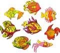 Motley tropical fish Royalty Free Stock Image