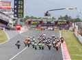 Moto 2 Grand Prix Royalty Free Stock Photo