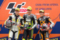 Moto 2 Podium Royalty Free Stock Photo