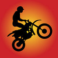 Moto-Cross-Driver Royalty Free Stock Image