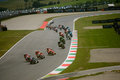 Moto GP race first lap at Mugello 2015 Royalty Free Stock Photo