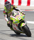 Moto GP Racing - Hector Barbera Stock Images