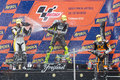 Moto2 podium Royalty Free Stock Photography
