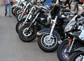 Motobikes in a row Royalty Free Stock Photography