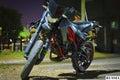 Motocicleta de gran alcance Foto de archivo