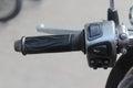 Motocicleta de la mano Fotografía de archivo libre de regalías
