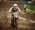 Motocross, Atanas Petrov 47. Photo stock