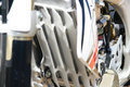 Motocross Bike - Details Royalty Free Stock Photo