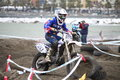 Motocross competition sestri levante mx mx category italian championship circuit Royalty Free Stock Photography