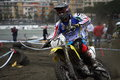 Motocross competition sestri levante mx mx category italian championship circuit Royalty Free Stock Images