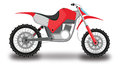 Motocross Motorcycle, Color Illustration Stock Photo