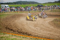 Motocross off road rider in obernheim Stock Photography