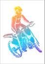 Motocross pop art illustration of a man riding Royalty Free Stock Photos