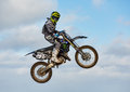 Motocross practise participant in Tain MX, Scotland. Royalty Free Stock Image