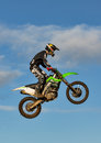 Motocross practise participant in Tain MX, Scotland. Stock Photography
