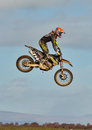 Motocross practise participant in Tain MX, Scotland. Stock Photo