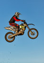 Motocross practise participant in Tain MX, Scotland. Stock Images