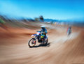 Motocross race abstract image from an off road racing Royalty Free Stock Photo