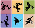 Motocross rider jump Royalty Free Stock Images