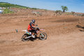 Motocross rider on a race track of apex moto parc uk Stock Images