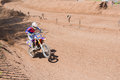 Motocross rider on a race track of apex moto parc uk Royalty Free Stock Photos