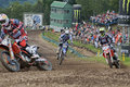 Motocross rivals Royalty Free Stock Images