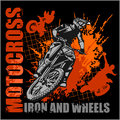 Motocross sport - grunge poster Royalty Free Stock Photo