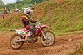 Motocross sport motocross bike in a race fmsct thailand supercross round saraburi nawaphop mx muaklek saraburi thailand on august Stock Image