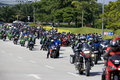 Motogp Biker Convoy Royalty Free Stock Photos