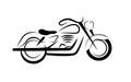 Motor Bike flat illustration Royalty Free Stock Photo