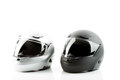 Motor bike helmets for road safety Royalty Free Stock Photo