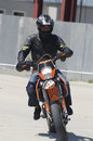 Motor bike rider a engaged in a race during the bucharest wheels arena show event in bucharest romania may Stock Images