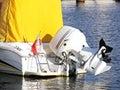 Motor boat engine Royalty Free Stock Photo