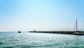 Motor Boat In The Harbor Of  U...