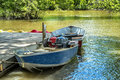 Motor boats ready for rent Royalty Free Stock Image
