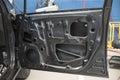 Motor car in repair shop Royalty Free Stock Photo