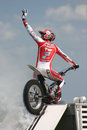 Motor Cycle Stunt Rider Royalty Free Stock Photo