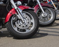 Motor Cycle Wheels Stock Photography