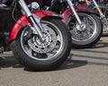 Motor Cycle Wheels Stock Photography