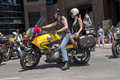 Motor cyclists at the Toronto Gay Pride procession Royalty Free Stock Photos