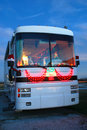 Motor home at Christmas Royalty Free Stock Photography