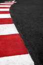 Motor race asphalt curb on monaco grand prix street circuit and montecarlo Stock Images