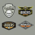Motor racing emblem set,sticker,arms, illustration Royalty Free Stock Photo