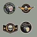 Motor racing emblem set,sticker,arms,vector illustration Royalty Free Stock Photo