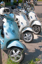 Motor Scooters in a Row Royalty Free Stock Photo