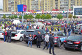 Motor show tambov russian federation september the annual in the main street of the city of tambov Royalty Free Stock Photography