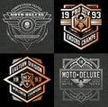 Motor sport emblem t-shirt graphics