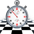Motor sport high resolution rendering of a stop watch Stock Images