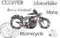 Motorbike background abstract illustration icon Stock Photos