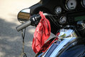 Motorbike with biker accessori Stock Images